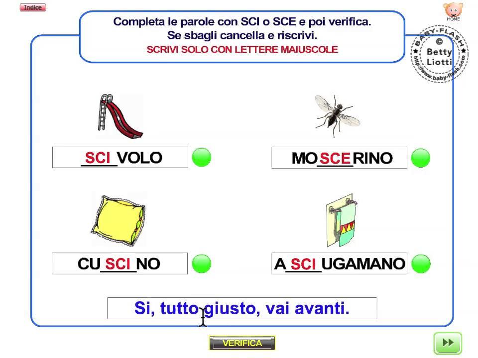 italiano 16 esercizio con sci sce youtube