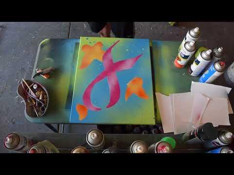 Breast Cancer Ribbon Spraypaint Art Speed Paint