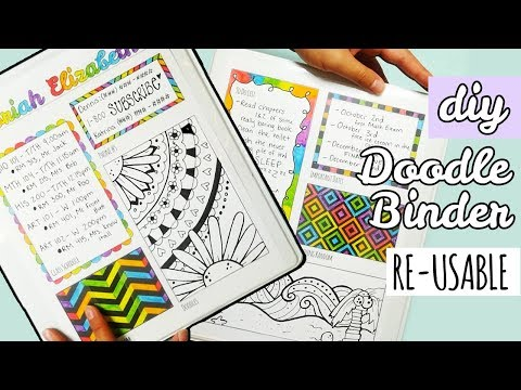 DIY Re-Usable Doodle Binder | Weird Back to School Supplies