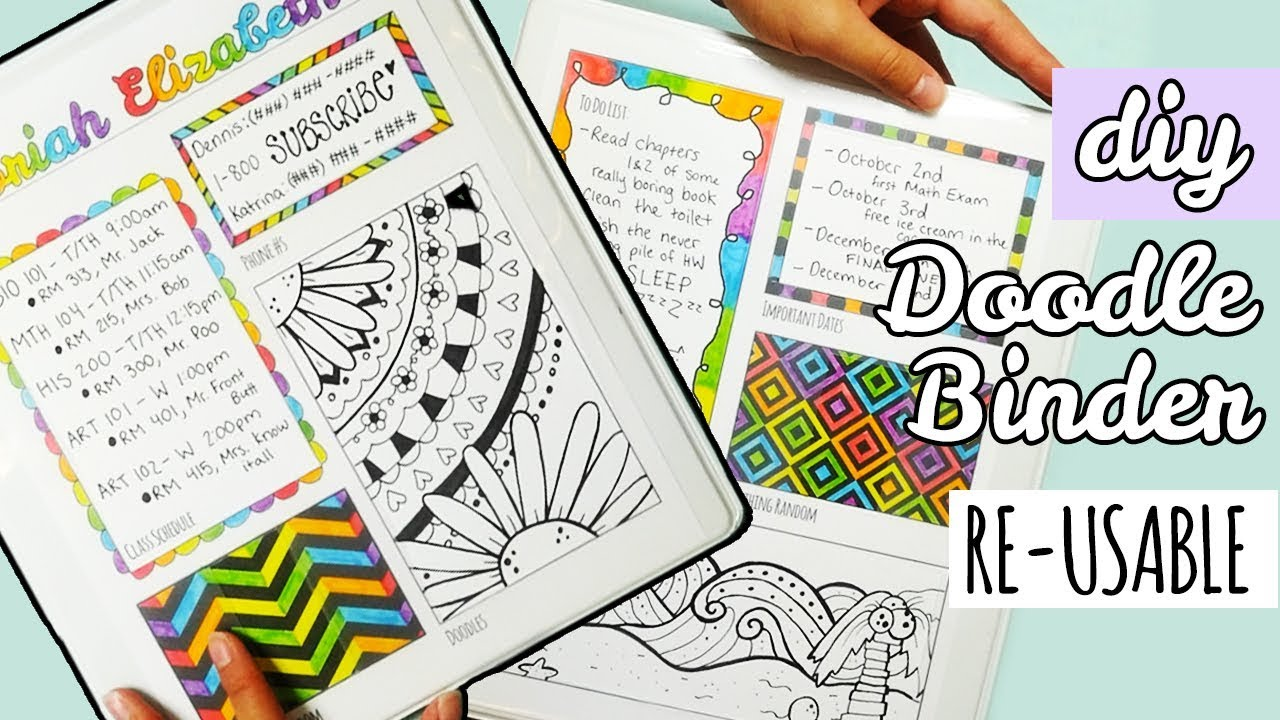 Diy Re Usable Doodle Binder Weird Back To School Supplies