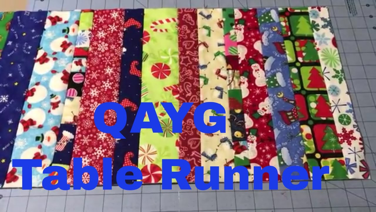 Christmas Table Runners To Sew.Sew With Me Qayg Christmas Table Runner