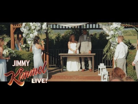 Jimmy Kimmel Talks To Best Man Who Fainted In Viral Wedding Video
