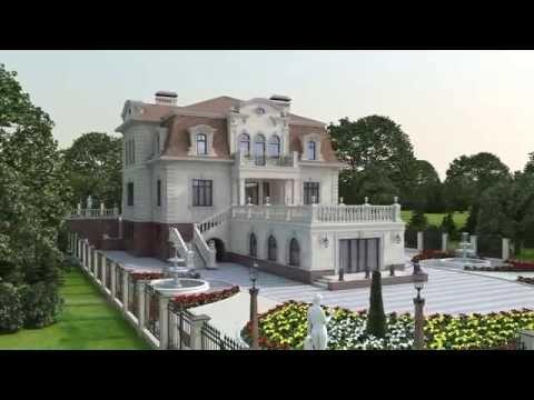 Проект элитного загородного дома в стиле барокко