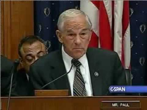 Ron Paul Opening Statement at the House Financial Services Subcommittee    792009