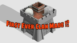 The First Clan Created In Clash Of Clans. War Log And Activity. 'The Order' .