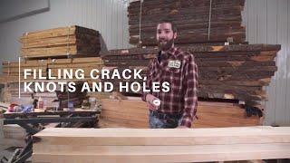Filling crack, knots and holes