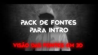 PACK DE 25 FONTES PARA INTRO/BANNER | p/ DZN, VFX, GFX