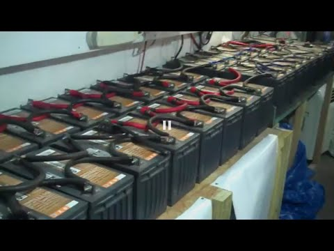 Massive Battery Bank for Solar biggest Off Doomsday Preppers