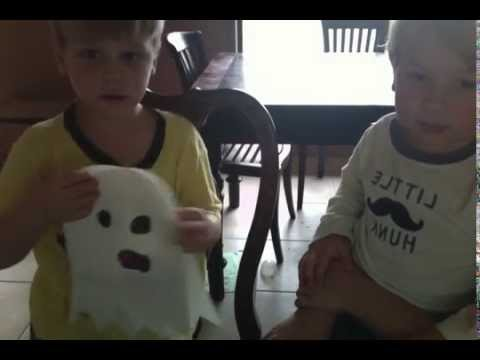 How to make a paper ghost for Halloween