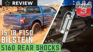 2015-2018 F150 4WD Bilstein 5160 Remote Reservoir Rear Shock Review On & Off-Road