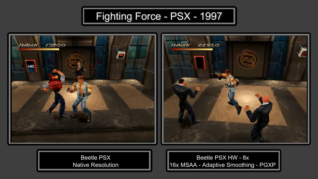 Fighting Force - Retroarch Beetle PSX HW - 8x resolution, 16x MSAA,  Adaptive Smoothing