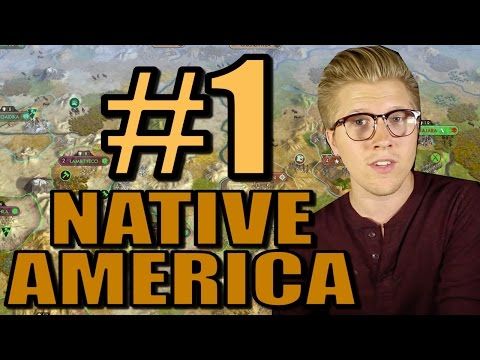 Civ 5: Brave New World Gameplay - Native America Mods - Part 1 [AI Only]