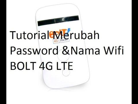 Cara Merubah Password dan Nama wifi Bolt - YouTube