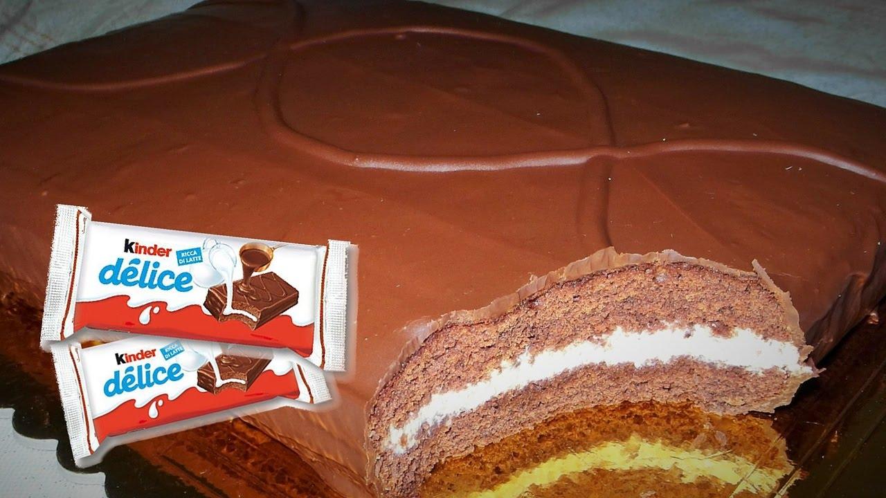 Top Ricetta Torta KINDER DELICE - GiAlQuadrato - YouTube DE09