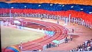 Venezuela 1 - Bolivia 0: Enorme bandera de Venezuela en Pueblo Nuevo y gol de Oswaldo Vizcarrondo