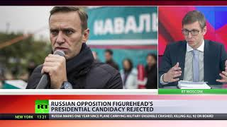 Opposition activist Navalny presidential bid rejected by Russian Elections Commission