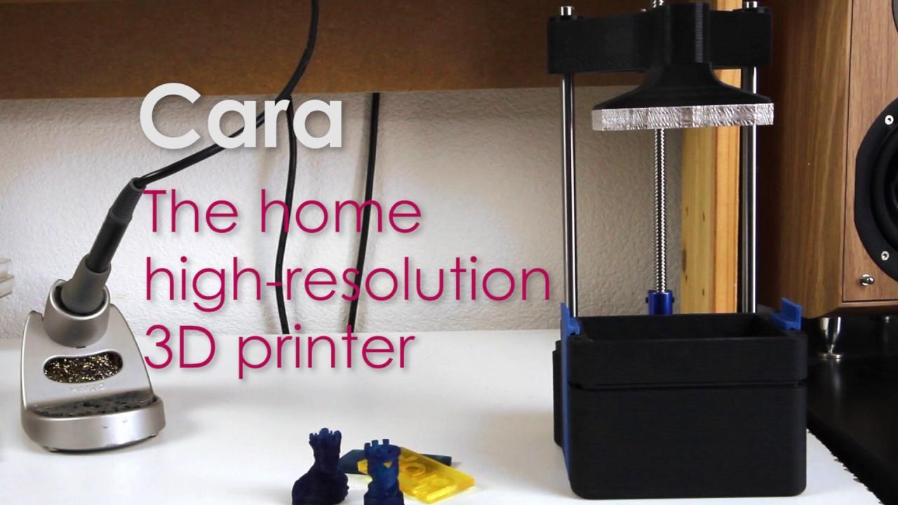Cara 1st Prototype The New Home Sla Hd 3d Printer