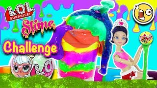 LOL SLIME Challenge con Marinette y Adrien y Barbie