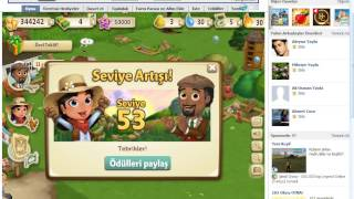 Farmville 2 de level atlama hilesi