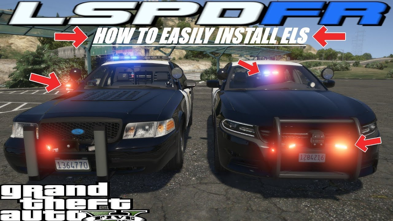 how to easily install emergency lighting system els grand theft auto 5 police mods