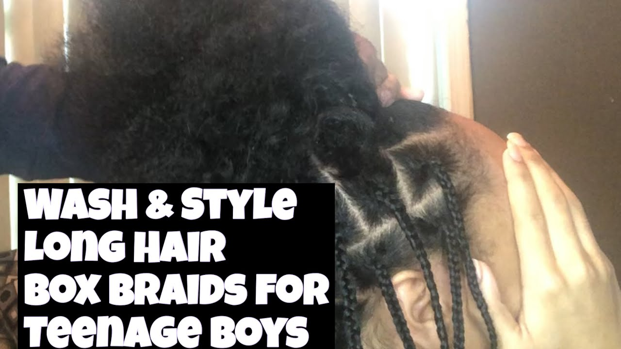 Wash And Braid Day For My 15 Year Old Son Addicted To Growing Long Hair Mommy Of 12 Youtube