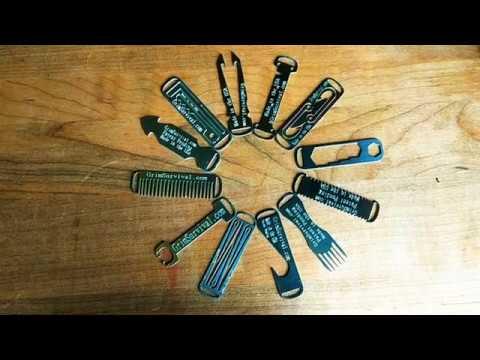 Grim Everyday Carry Zipper Micro Tool System