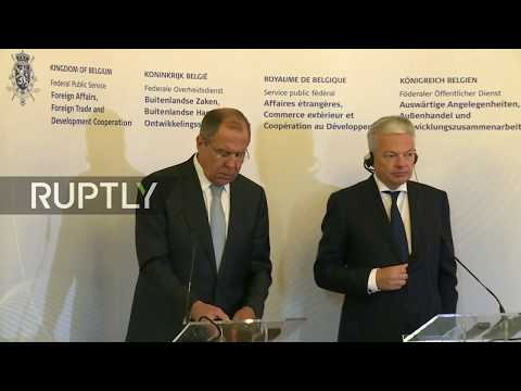 LIVE: Lavrov meets Belgium FM Reynders in Brussels - Joint press conference