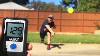 HOW FAST CAN I THROW A BLITZBALL? IRL BASEBALL CHALLENGE