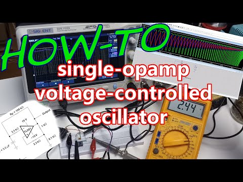 Single-Op-Amp Voltage-Controlled Oscillator (VCO)