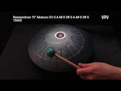 "Tongue Drum 15"" 12 Notes Akebono vidéo"