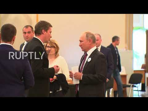 Russia: Putin casts vote in Moscow mayoral election