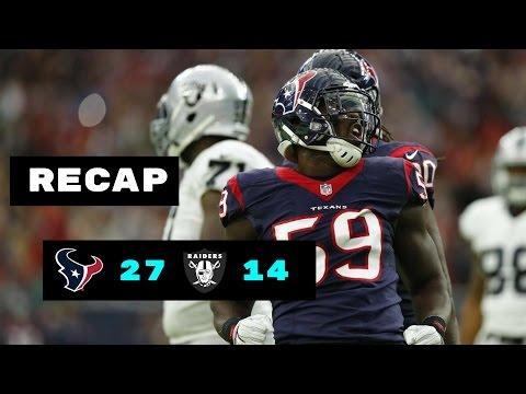Houston Texans vs Oakland Raiders Recap | NFL Wild Card Playoffs 1/7/2017