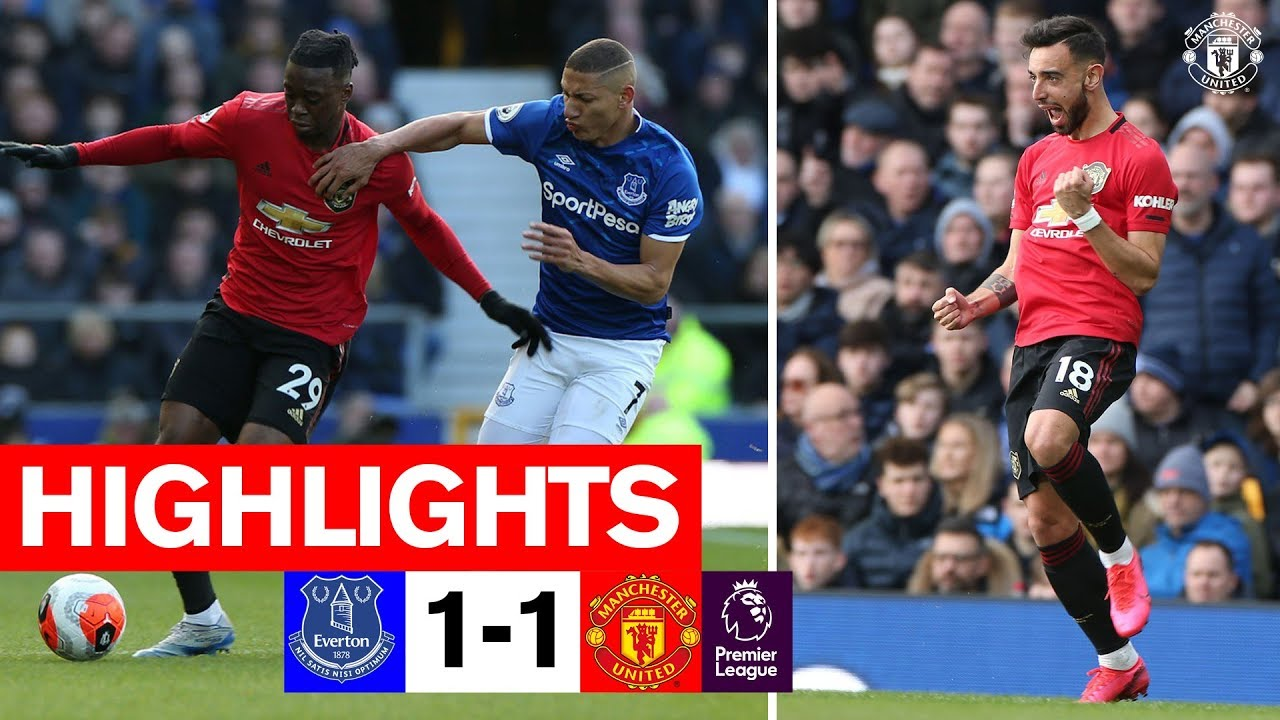 Highlights Everton 1 1 Manchester United Premier League 2019 20 Youtube