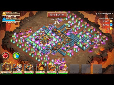 New Insane Dungeon 5-6 Castle Clash 3 Flamed