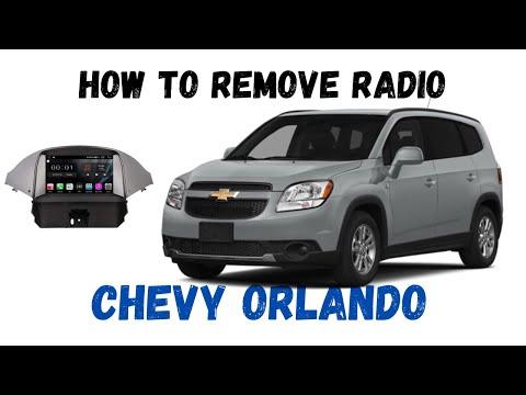 Chevrolet ORLANDO How to Remove radio