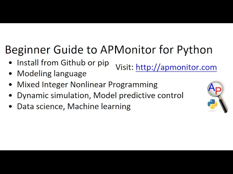 Python Optimization Package | APMonitor Documentation