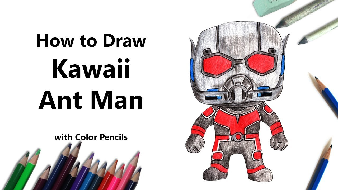 How to Draw Kawaii Ant Man Step by Step - very easy - YouTube