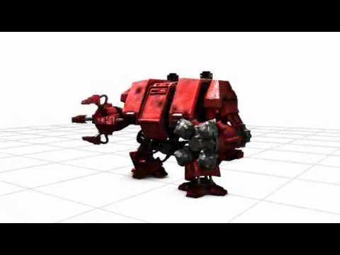 Modélisation et animation 3D : Warhammer 40000 Dreadnought Space Marine 3D