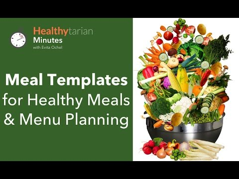Healthy Meals & Menu Planning with Meal Templates (Healthytarian Minutes ep. 33)