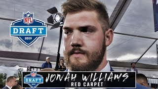 NFL Draft: on the red carpet with Jonah Williams