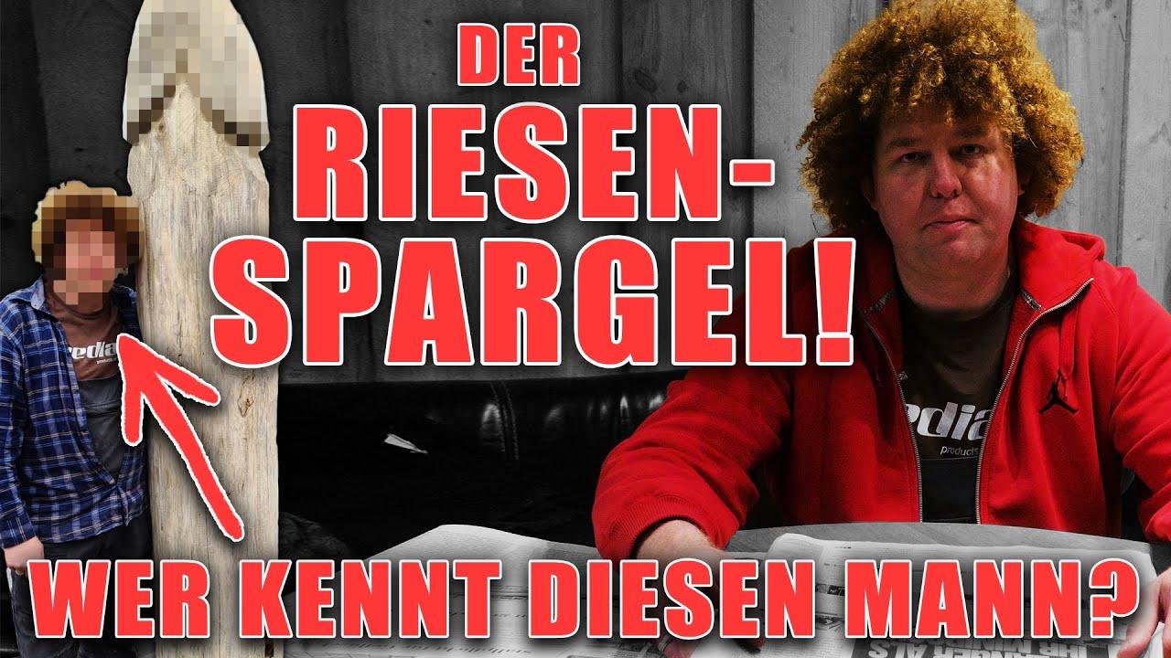 HOLZKUNST SCHOLZ - RIESENSPARGEL auf dem MARKT! Wer war das?