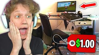 REACTING to the CHEAPEST Gaming Setups... ($1 setup)