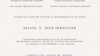 Alicia y Juan Sebastian