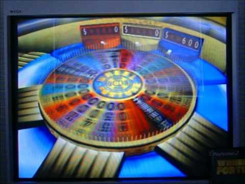 PS2 Wheel of Fortune Run Game 100