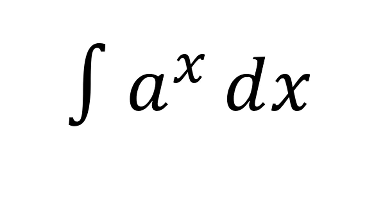 integral of a x exponential function youtube