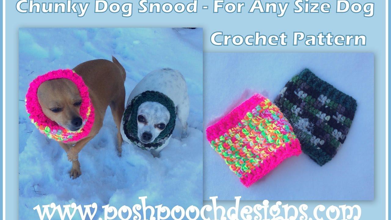 Chunky Dog Snood Crochet Pattern - YouTube
