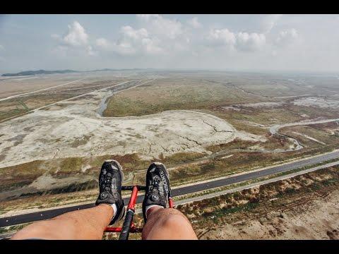 moter Paragliding ride in korea(Saemangeum) / 새만금 모터 패러글라이딩