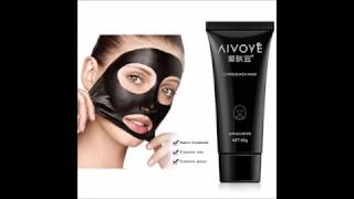 aivoye suction black mask deep cleansing face mask tearing resist oily skin strawberry nose acne rem