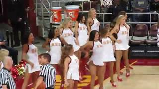 USC Song Girls - Timeout of USC vs Colorado 1/10/2018