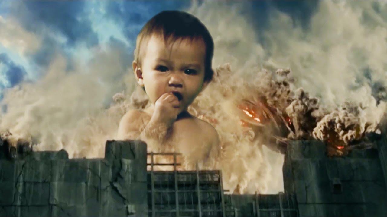 Baby Greifen Attack On Baby Titan - Attack On Titan Parody With Babies